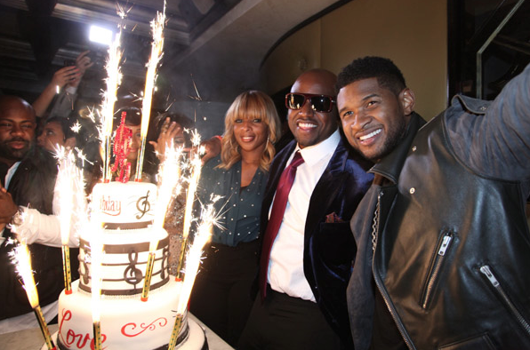 USHER GIVES SURPRISE BIRTHDAY GIFT TO PRODUCER RICO LOVE DURING PRIVATE DINNER PARTY CELEBRATION AT VIC & ANGELO'S