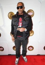 Ludacris on the red carpet at Haze Nightclub.