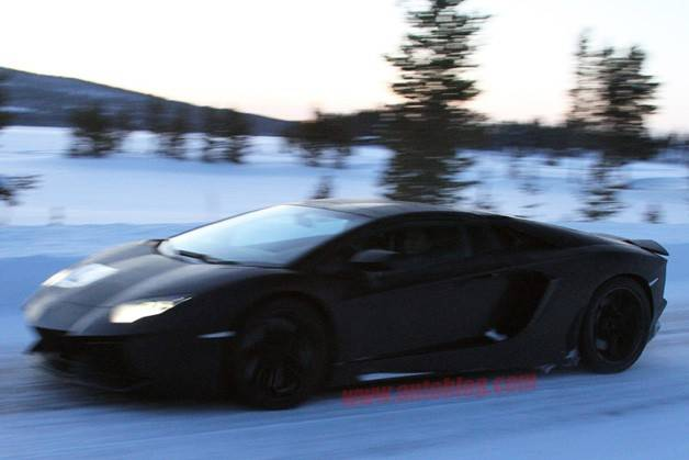 Lamborghini Aventador Roadster Hits The Ice