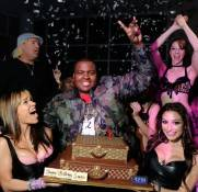Recording artist Sean Kingston, center, celebrates his birthday at the RPM Nightclub.