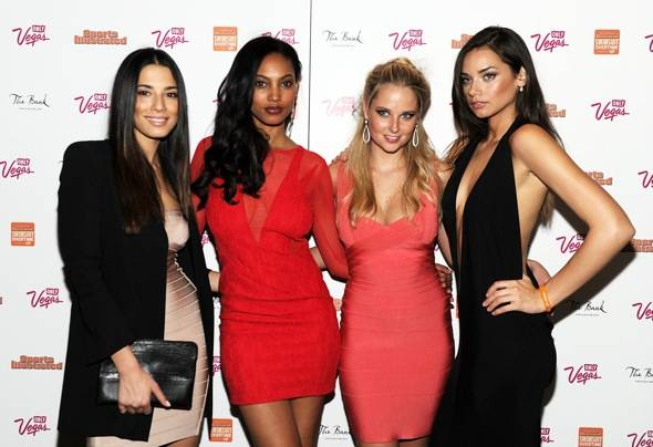 Haute Event: Bruno Mars, Mario Lopez and the Sports Illustrated Swimsuit Models Party at the Bank