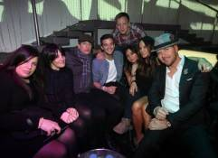 Ricki Lake, Mark Ballas, Pamela Adlon, Robin Antin and Matt Goss at Pussycat Dolls Burlesque Saloon inside Gallery Nightclub in Las Vegas.