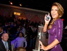 Audrina Patridge celebrates the launch of curve appeal for men at Pure Nightclub.