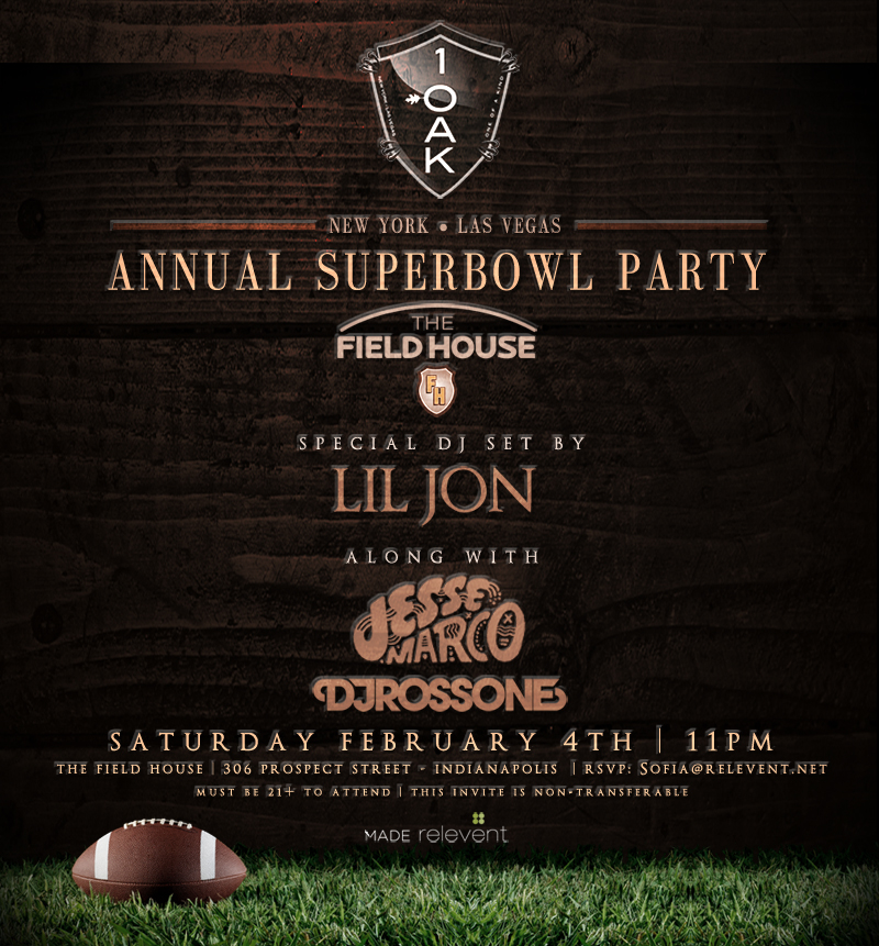 1 OAK To Host Super Bowl Party in Indianapolis