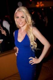 Crystal Harris at Hyde Bellagio for Wilmer Valderrama's 32nd birthday.
