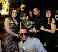 "Mike ""The Situation"" Sorrentino with his family at RPM Nightclub."