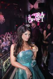 Laura Croft enjoys her night as a princess during her birthday celebration at Chateau Nightclub & Gardens.
