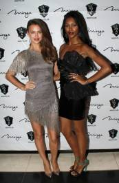Irina Shayk and Jessica White at 1 OAK.