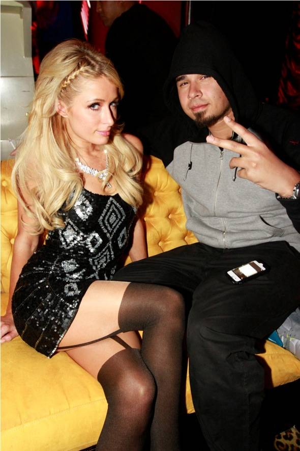 Haute Event: Paris Hilton Checks Out Afrojack at Surrender