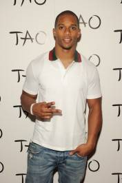 Victor Cruz on the red carpet at Tao.