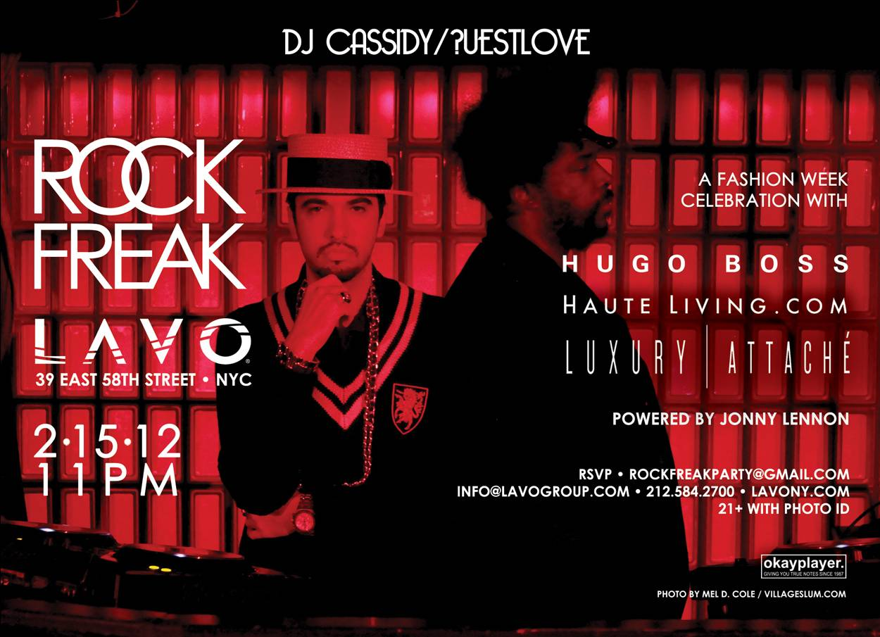Hugo Boss/Luxury Attaché/Haute Living Hosts the Return of Rock/Freak with DJ Cassidy and Questlove Tomorrow Night at Lavo NYC