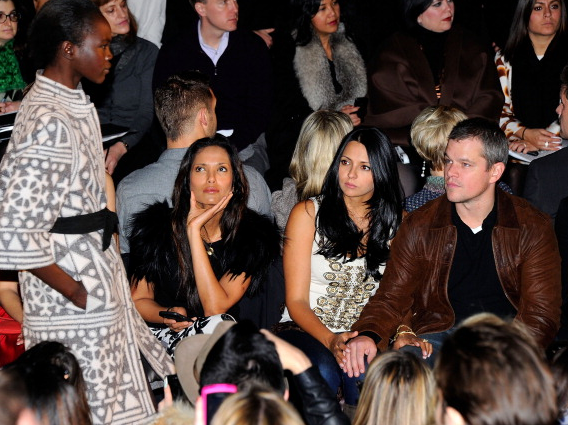 Mercedes-Benz Fashion Week: Naeem Khan Show Attended By Matt Damon