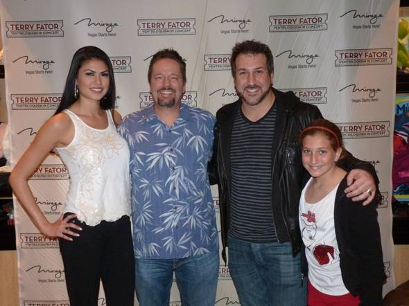 Haute Event: Joey Fatone Checks Out Terry Fator at the Mirage