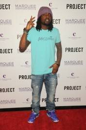 Wale on the red carpet at Marquee.