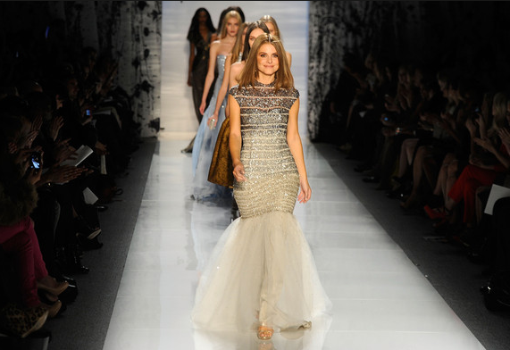 New York Fashion Week: Maria Menounos Walks The Runway At Pamella Roland Show