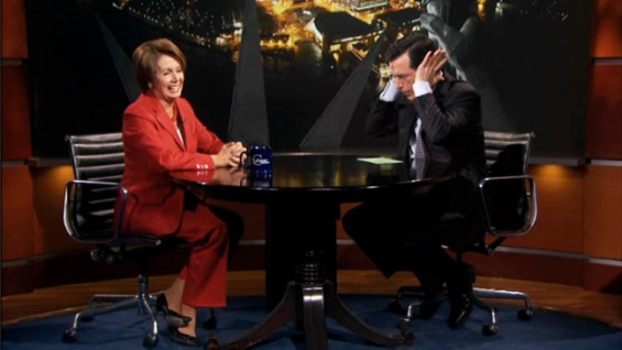 Haute 100 San Francisco Update: Nancy Pelosi Agrees to deal with Stephen Colbert