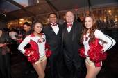 Harry Denton and 49er Cheerleaders