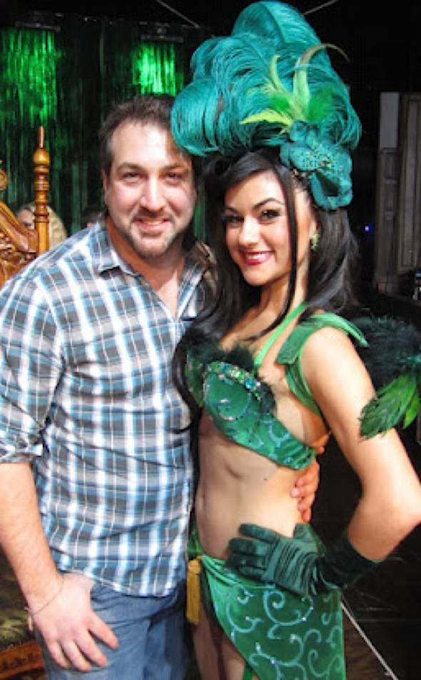 Joey Fatone and Melody Sweets.
