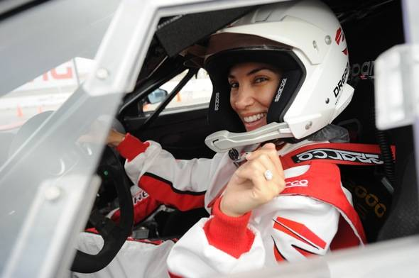 Adrianna Costa at Dream Racing opening