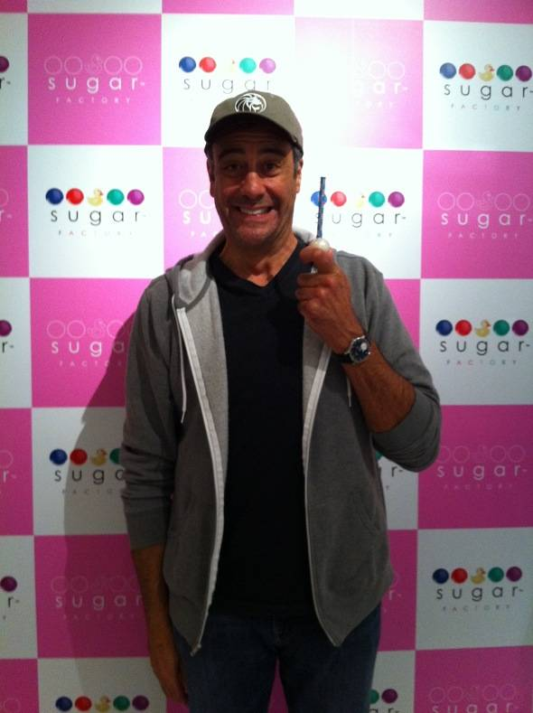 Haute Event: Brad Garrett Visits the New Sugar Factory at the MGM Grand