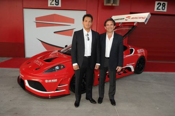 Dream Racing founders Ado De Micheli and Enrico Bertaggia at the grand opening