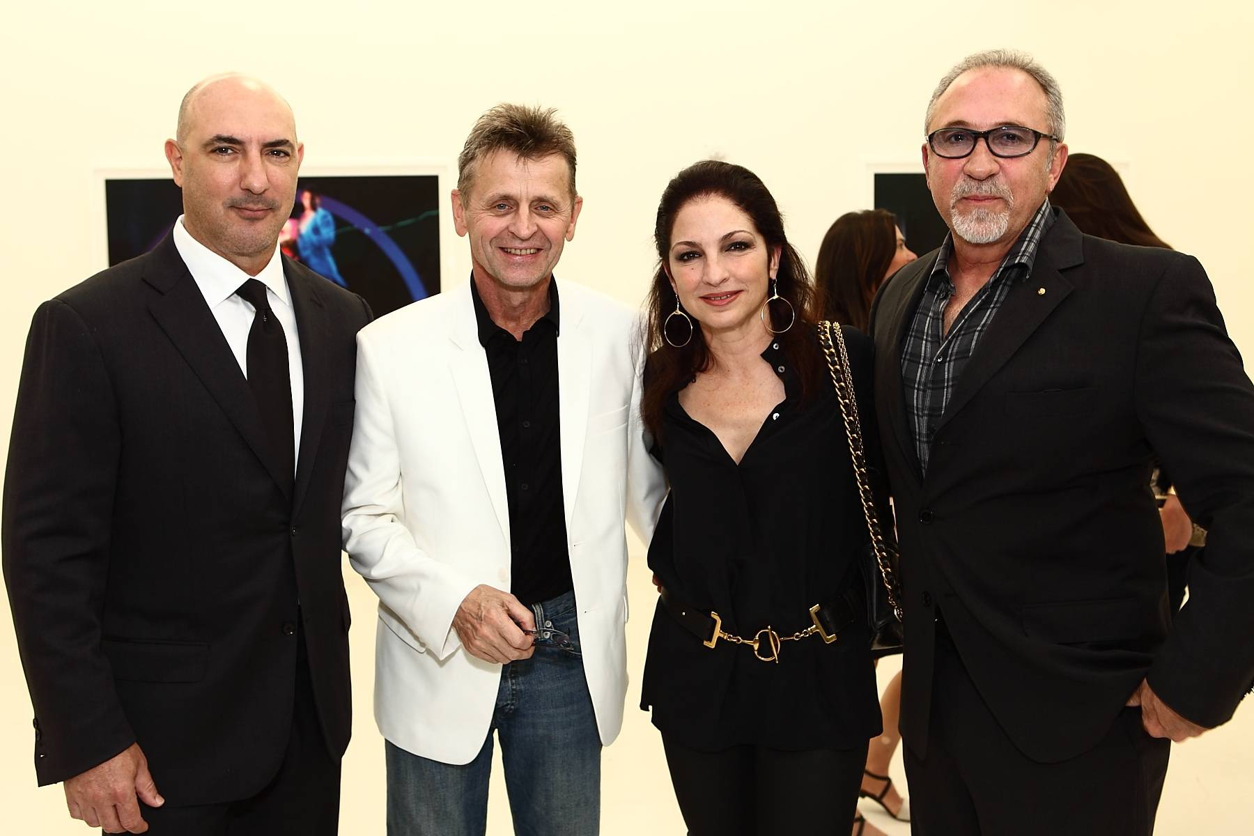 Gary Nader, Mikhail Baryshnikov, Gloria & Emilio Estefan