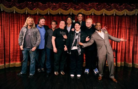 Group Shot of Comedians at Brad Garrett's Comedy Club VIP Grand Opening at MGM Grand 3.29.12