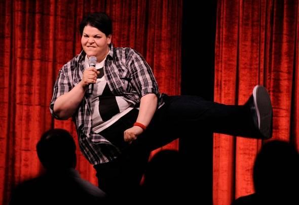 Jenn Kober performing at Brad Garrett's Comedy Club VIP Grand Opening at MGM Grand 3.29.12