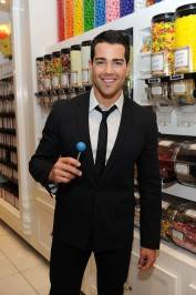 Jesse Metcalfe enjoys a signature Sugar Factory Couture Pop at the flagship Sugar Factory retail store at Paris Las Vegas.