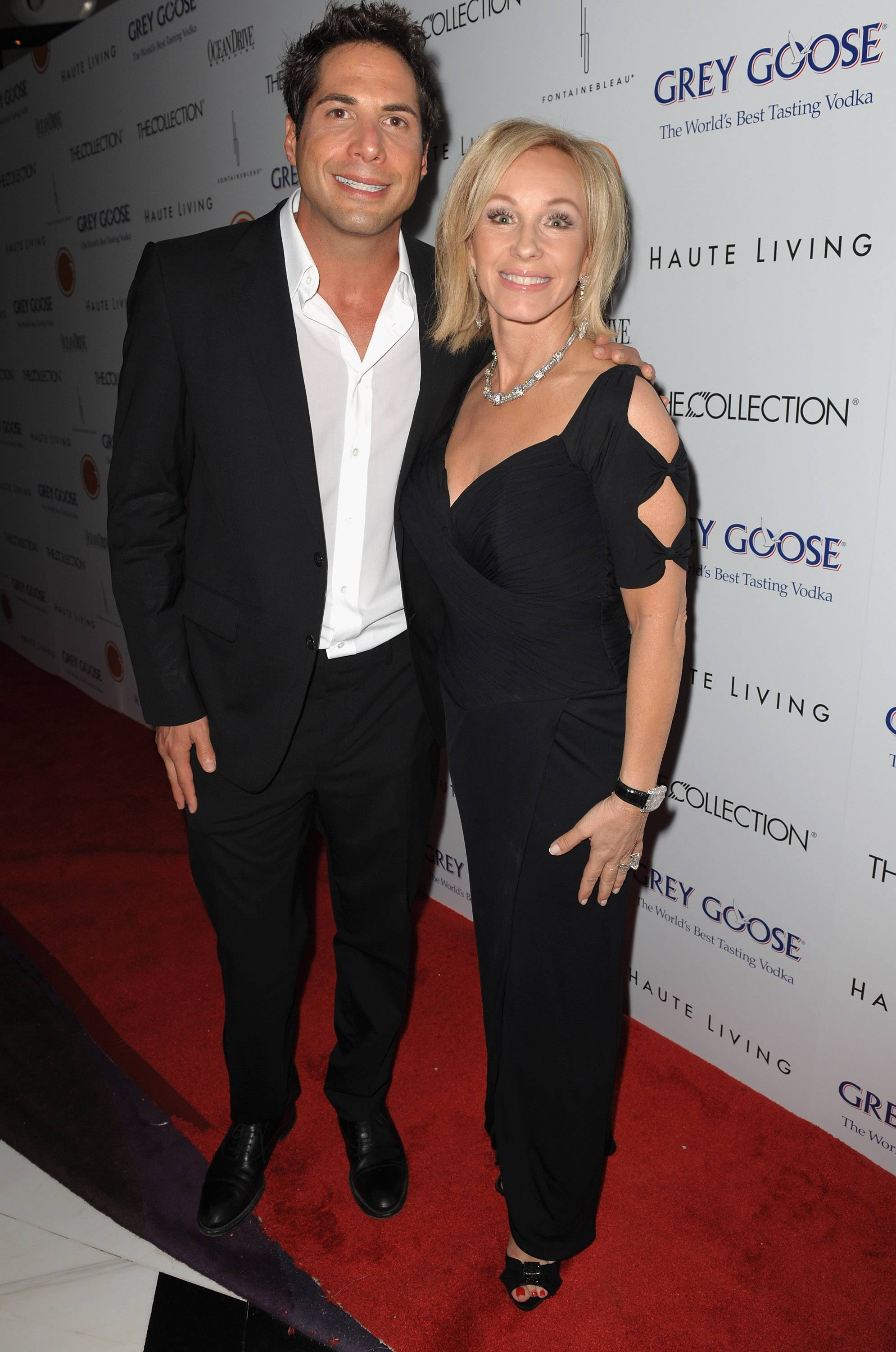 Joe Francis and Lea Black at The Blacks' Annual Gala