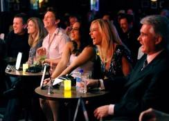 Kate Gosselin in audience at Brad Garrett's Comedy Club VIP grand opening.