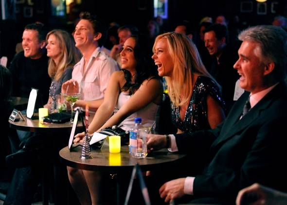 Kate Gosselin in audience at Brad Garrett's Comedy Club VIP Grand Opening at MGM Grand 3.29.12