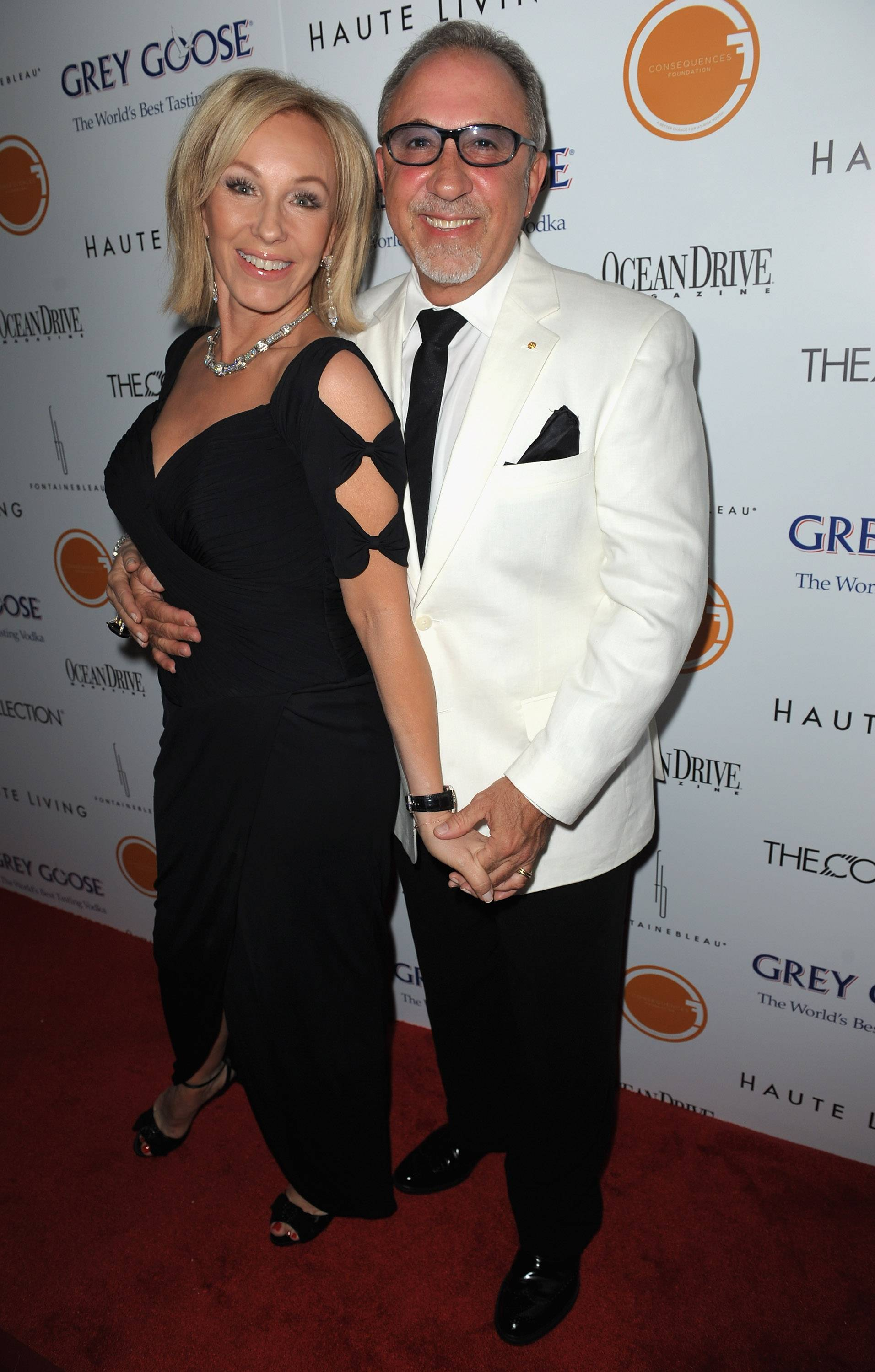 Lea Black and Emilio Estefan at The Blacks' Annual Gala