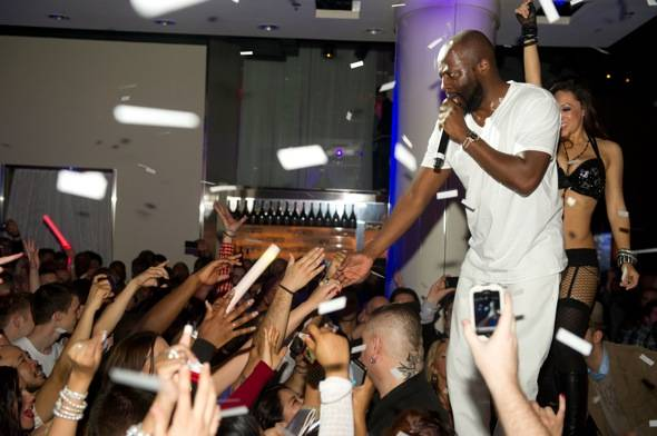 Artist and performer Wyclef Jean performs at Pure Nightclub