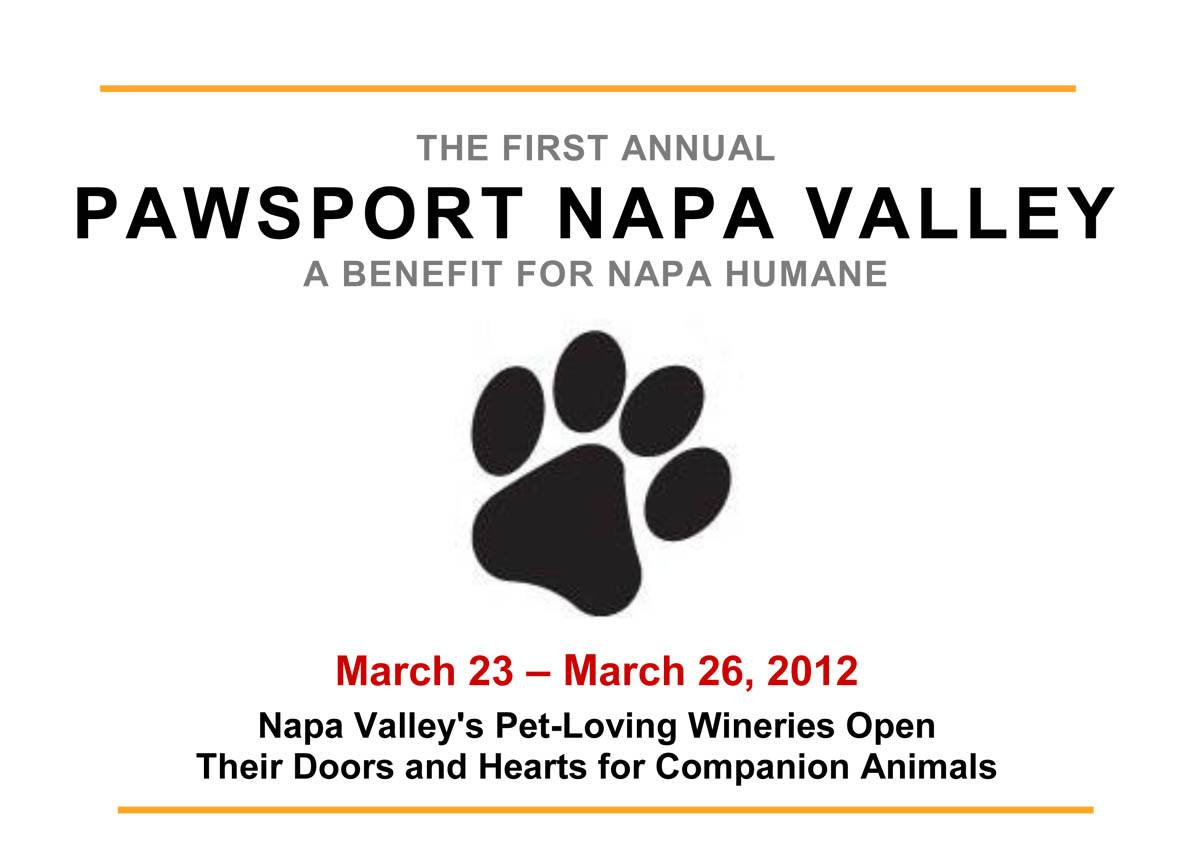 "Napa Humane Announces Inaugural ""Pawsport Napa Valley"""