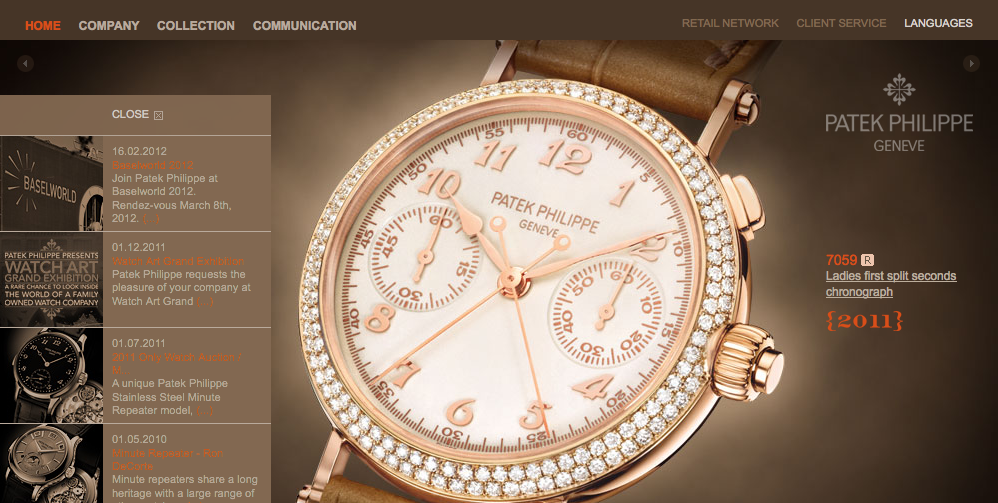 Haute Time: Patek Philippe Reveals New Site
