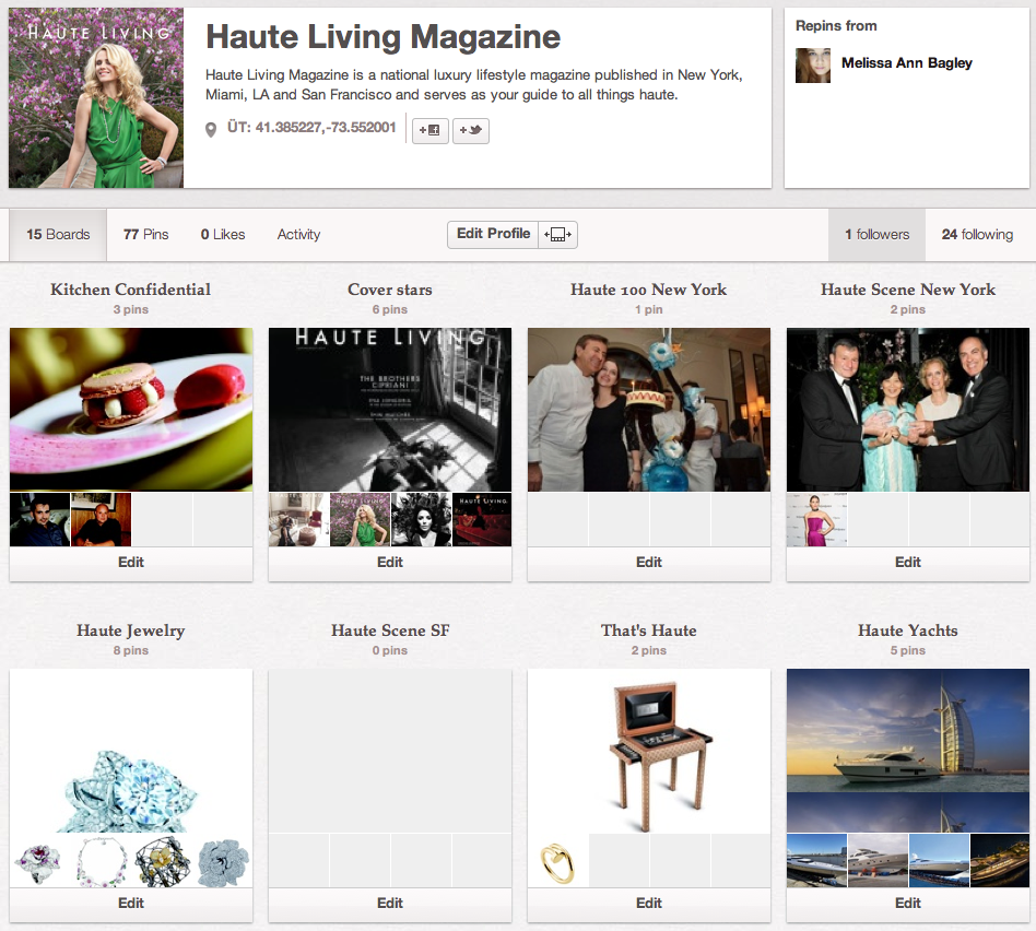 FOLLOW HAUTE LIVING ON PINTEREST!