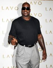 Shaquille O'Neal arrives at Lavo.