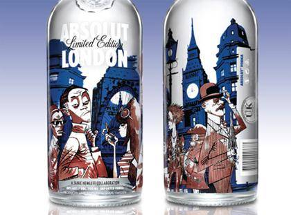 Limited Edition Absolut Vodka London Bottle