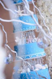 decoration of cake for blue for togetherness-love vows theme