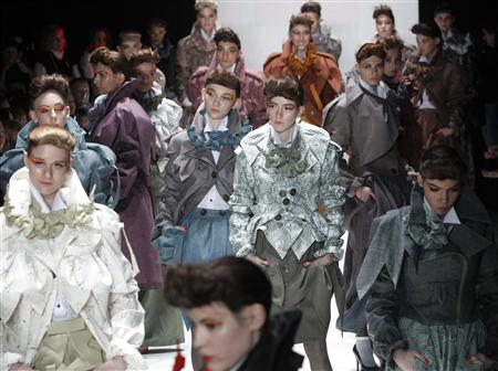 Gloomy And Conservative Styles Shown At Russian Fashion Week Reflect Current Mood Of Society