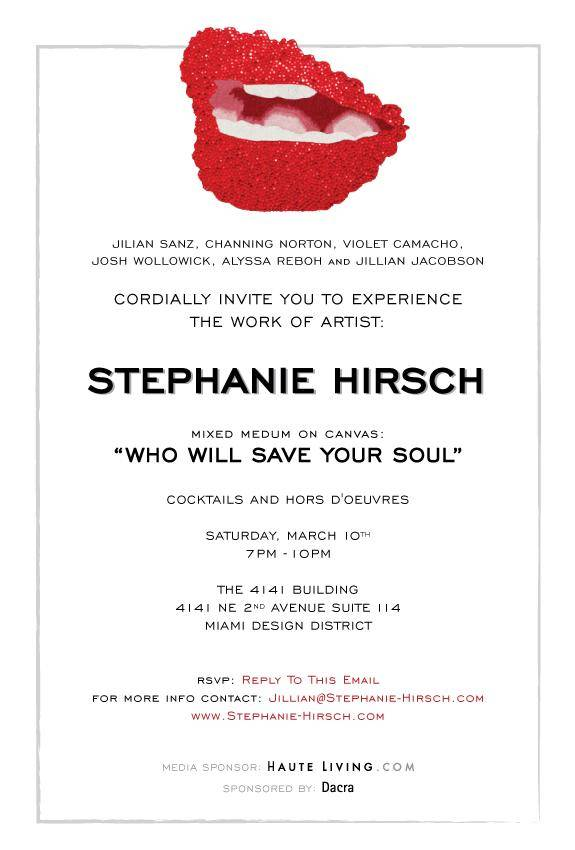 Stephanie Hirsch Invitation