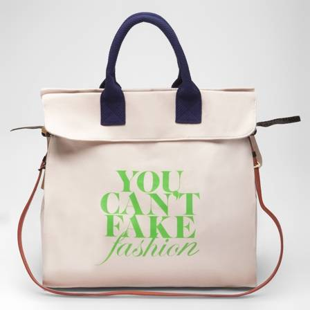 "Haute Couture: ""You Can't Fake Fashion"" Kate Spade Tote"