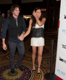 Ben Flajnik and Courtney Robertson arrive at Pure Nightclub.