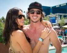 Courtney Robertson and Ben Flajnik at Wet Republic.