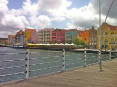 A view of Punda from the Emma Bridge in Willemstad