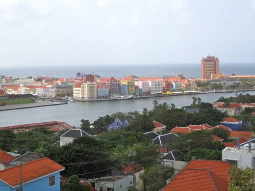 A view of Willemstad. The St. Anna Bay divides Punda and Otrabanda.