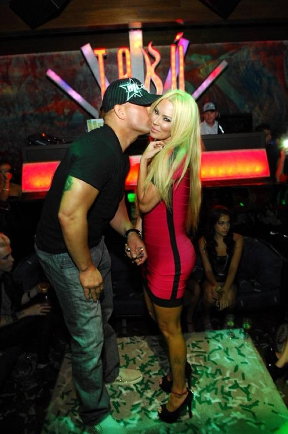 Birthday Kiss from Tito Ortiz
