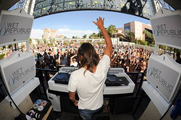 Haute Event: Bob Sinclar Spins at the First Industry House Event at Wet Republic
