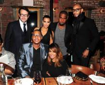 Francois-Henry Bennahmias, Kim Kardashian, Kayne West, Swizz Beatz, Carmelo Anthony, La La Anthony